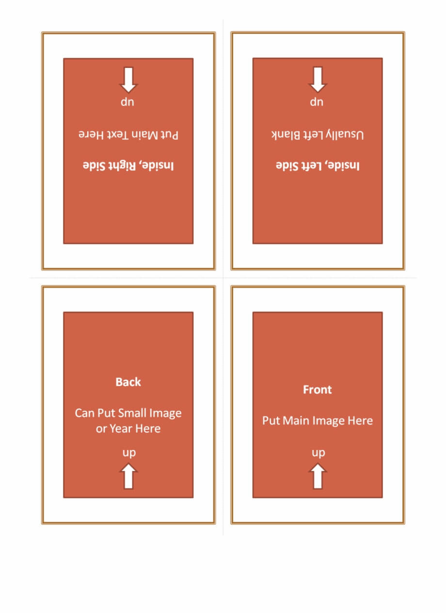 Four Fold Greeting Card Template 127614 - Quarter Fold intended for Quarter Fold Card Template