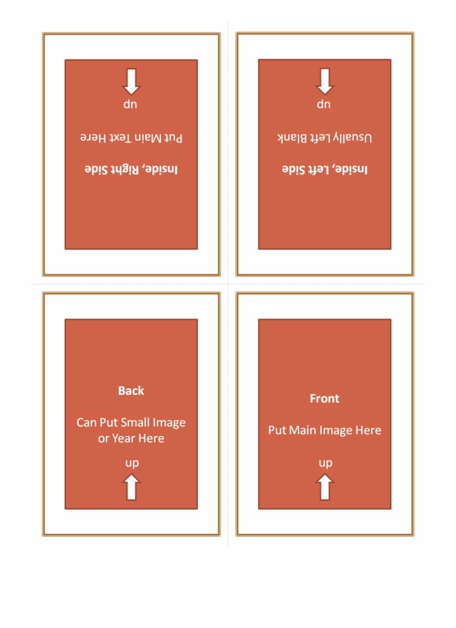 Four Fold Greeting Card Template 127614 - Quarter Fold within Quarter Fold Birthday Card Template