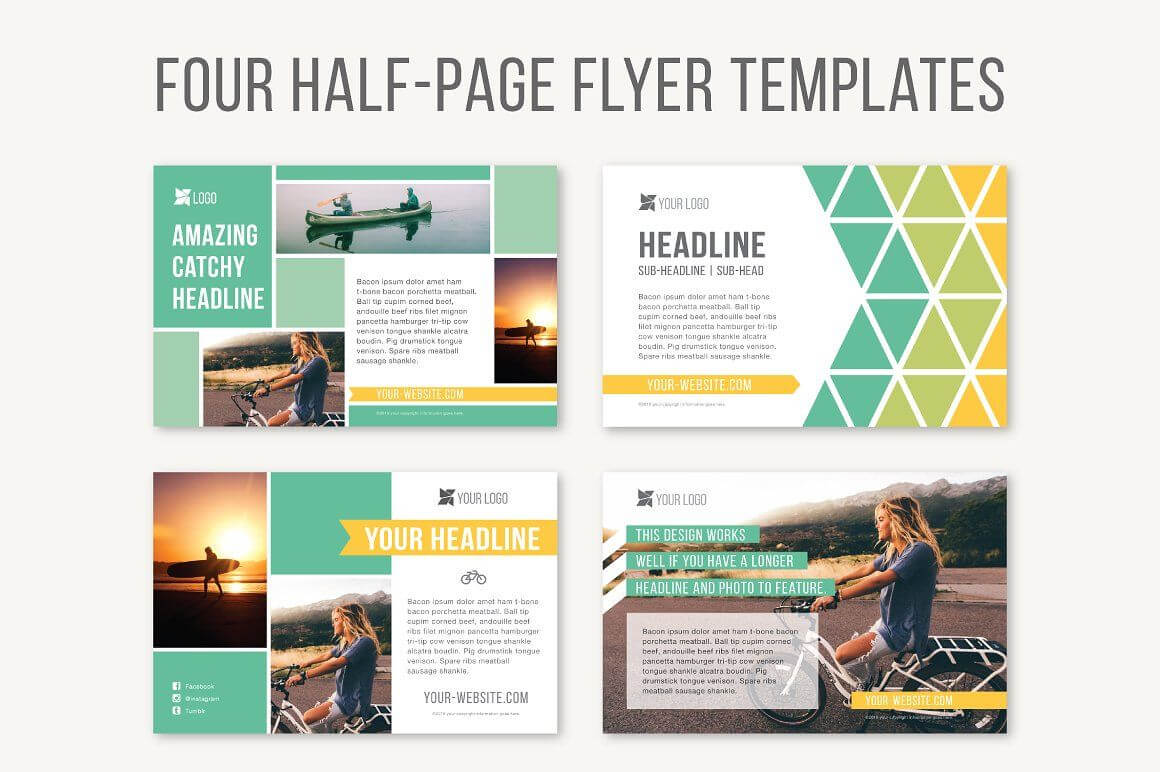Four Half Page Flyer Templatesjoanna Haecker On With Half Page Brochure Template