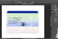 France Id Card Editable Psd Template (Photoshop Template within French Id Card Template