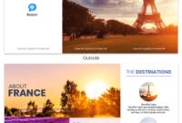 France Travel Tri Fold Brochure Template – Venngage with Word Travel Brochure Template