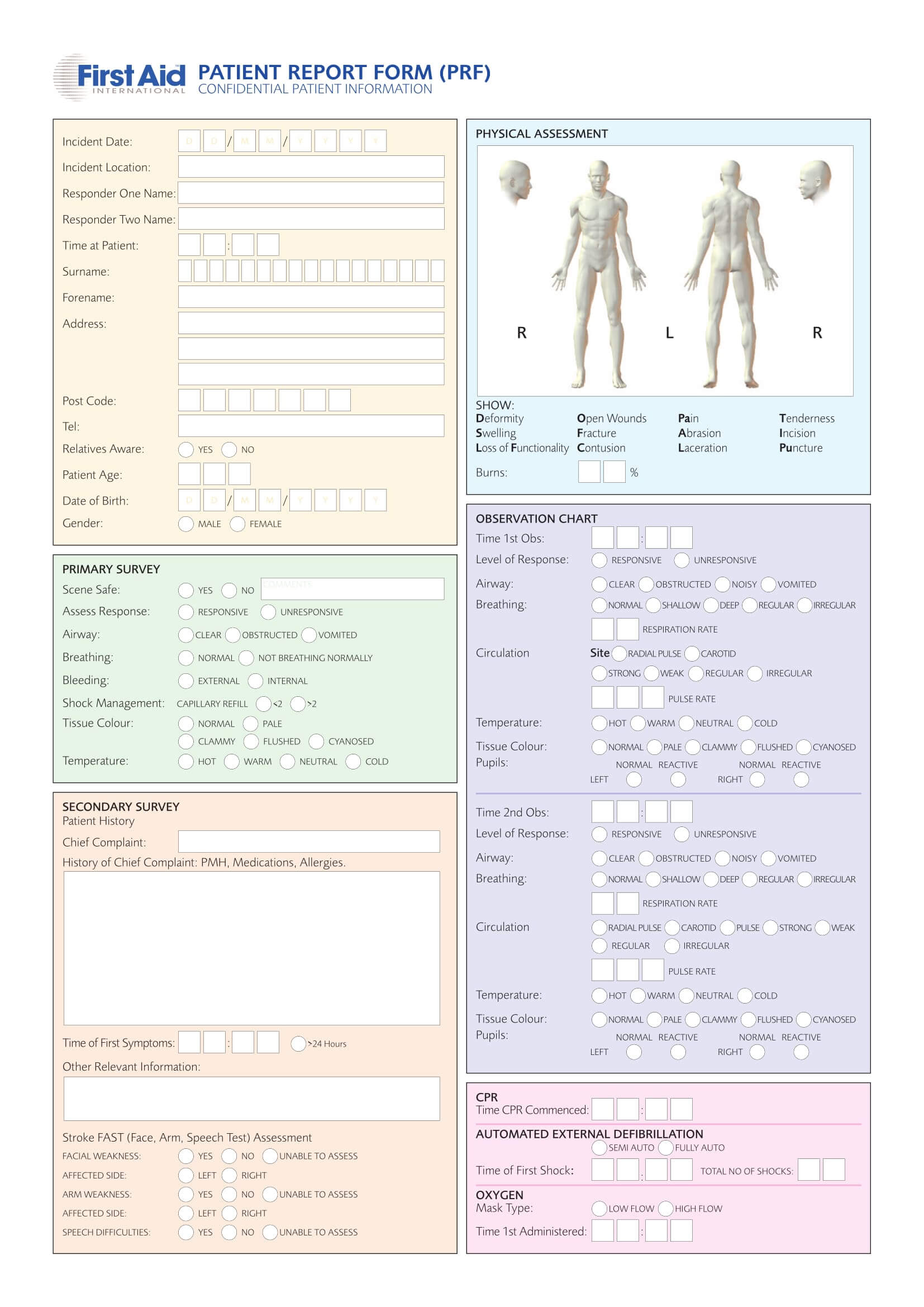 Free 14+ Patient Report Forms In Pdf | Word In Patient Report Form Template Download