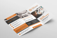 Free 3-Fold Brochure Template For Photoshop & Illustrator for 3 Fold Brochure Template Psd Free Download
