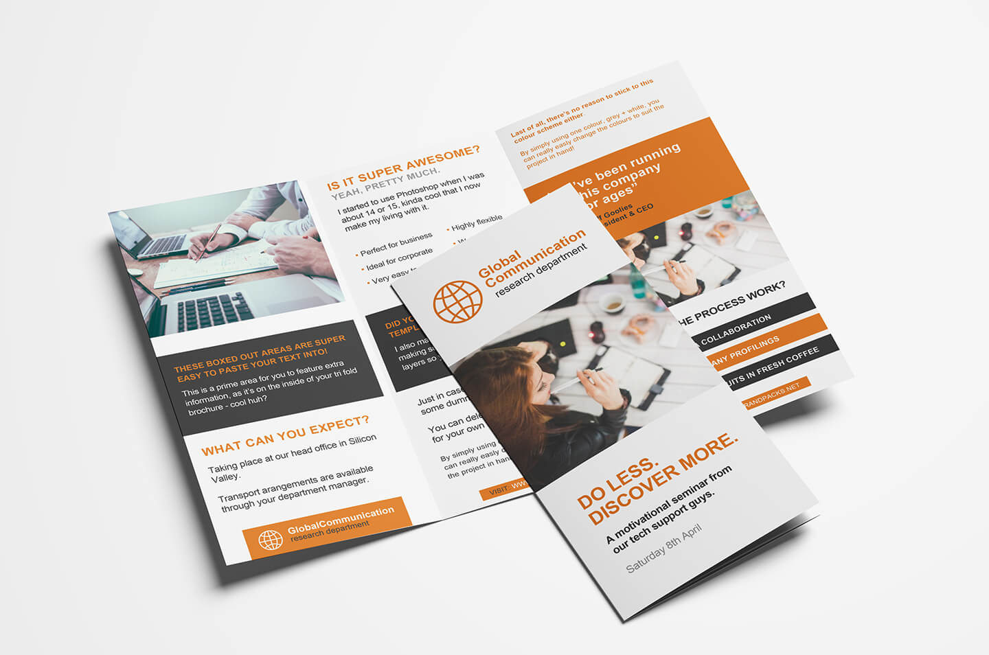Free 3 Fold Brochure Template For Photoshop & Illustrator With Single Page Brochure Templates Psd