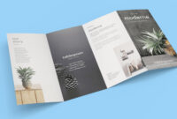 Free 4-Panel Quad-Fold Brochure Mockup Psd – Good Mockups intended for 4 Panel Brochure Template