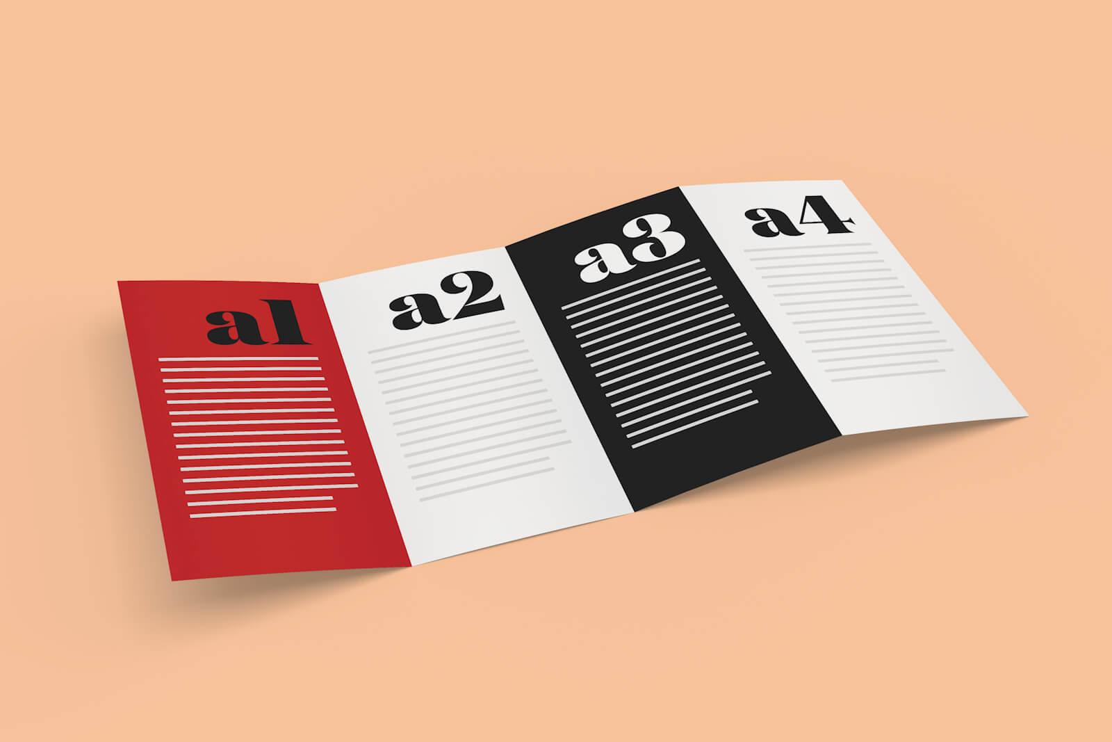 Free 4-Panel Quad-Fold Brochure Mockup Psd - Good Mockups with regard to Quad Fold Brochure Template