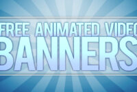 **free** Animated Video Banner Template! [Adobe After Effects] regarding Animated Banner Templates