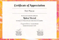 Free Appreciation Certificate | Certificate Of Appreciation Inside Free Certificate Of Destruction Template