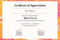 Free Appreciation Certificate | Certificate Of Appreciation regarding Workstation Authentication Certificate Template