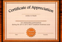 Free Appreciation Certificate Templates Supplier Contract throughout Best Teacher Certificate Templates Free