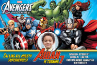 Free Avengers Birthday Invitation | Dioskouri Designs within Avengers Birthday Card Template