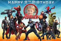 Free Avengers Birthday Tarpaulin | Dioskouri Designs intended for Avengers Birthday Card Template