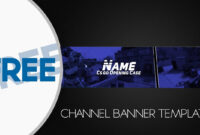 Free Banner Template Gimp #2 Inside Youtube Banner Template With Regard To Youtube Banner Template Gimp