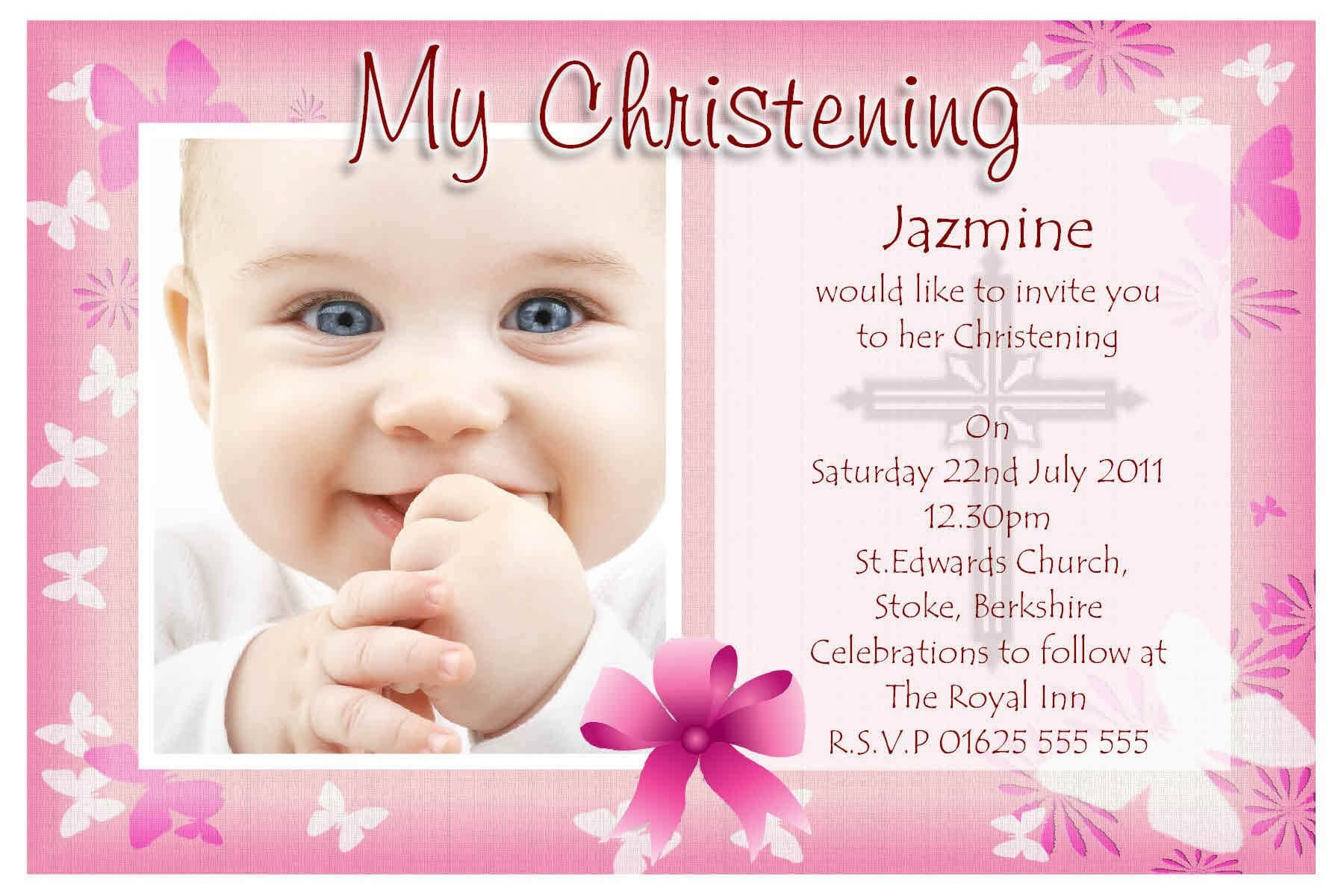 Free Baptism Invitation Templates Printable With Regard To Baptism Invitation Card Template