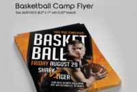Free Basketball Camp Flyer In Psd | Free Psd Templates with Basketball Camp Brochure Template