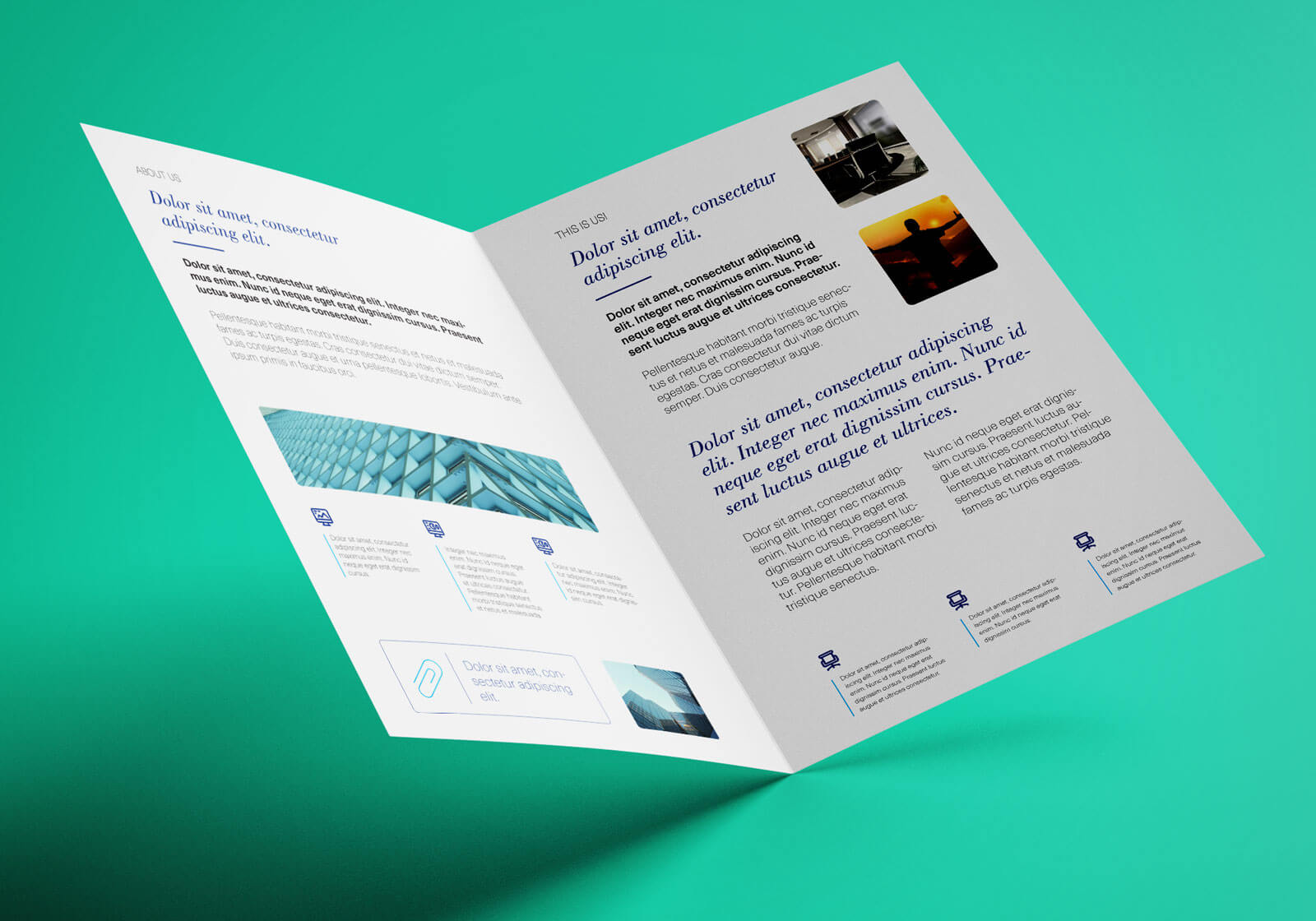 Free Bi Fold A4 Brochure Mockup Psd - Good Mockups Within 2 Fold Brochure Template Psd