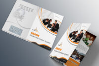 Free Bi-Fold Brochure Psd On Behance intended for 2 Fold Brochure Template Psd