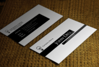 Free Black And White Business Card Template inside Call Card Templates