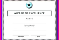 Free Blank Certificate Templates For Word | Business Letters inside Award Of Excellence Certificate Template