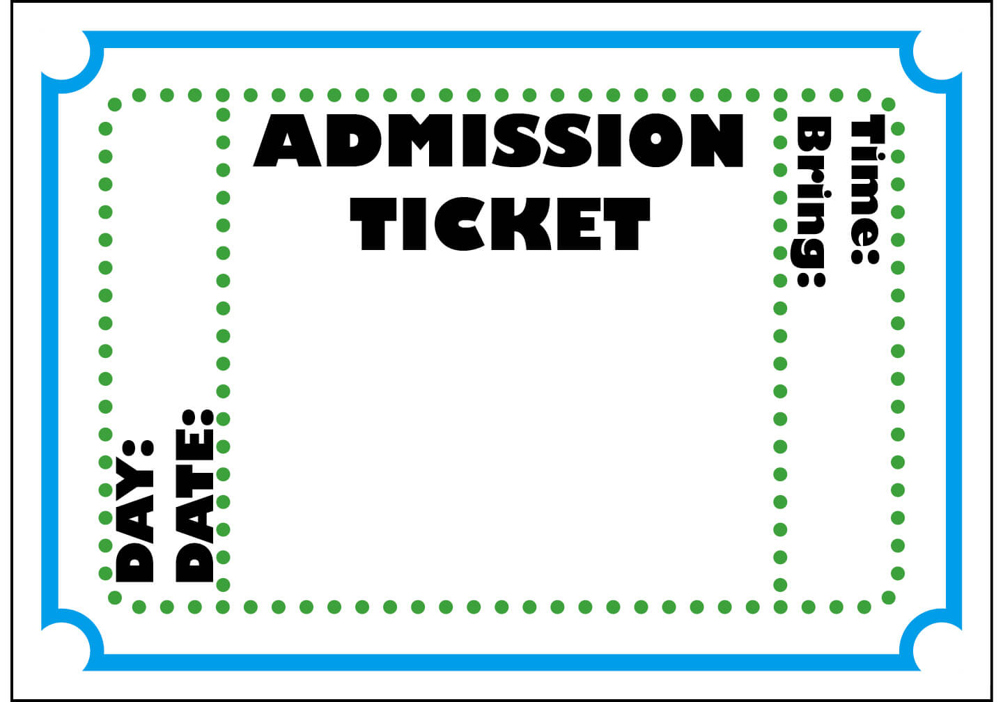 Free Blank Ticket Cliparts, Download Free Clip Art, Free Regarding Blank Admission Ticket Template
