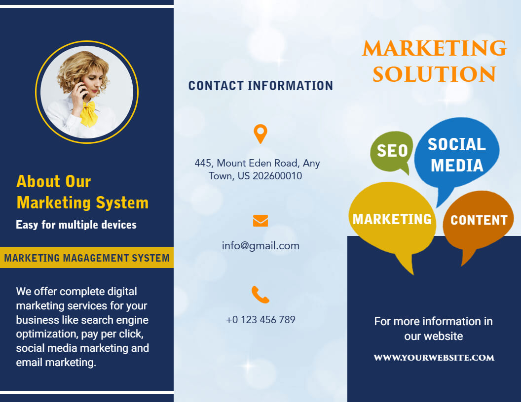 Free Brochure Maker -Create Custom Brochure Online | Photoadking within Online Brochure Template Free