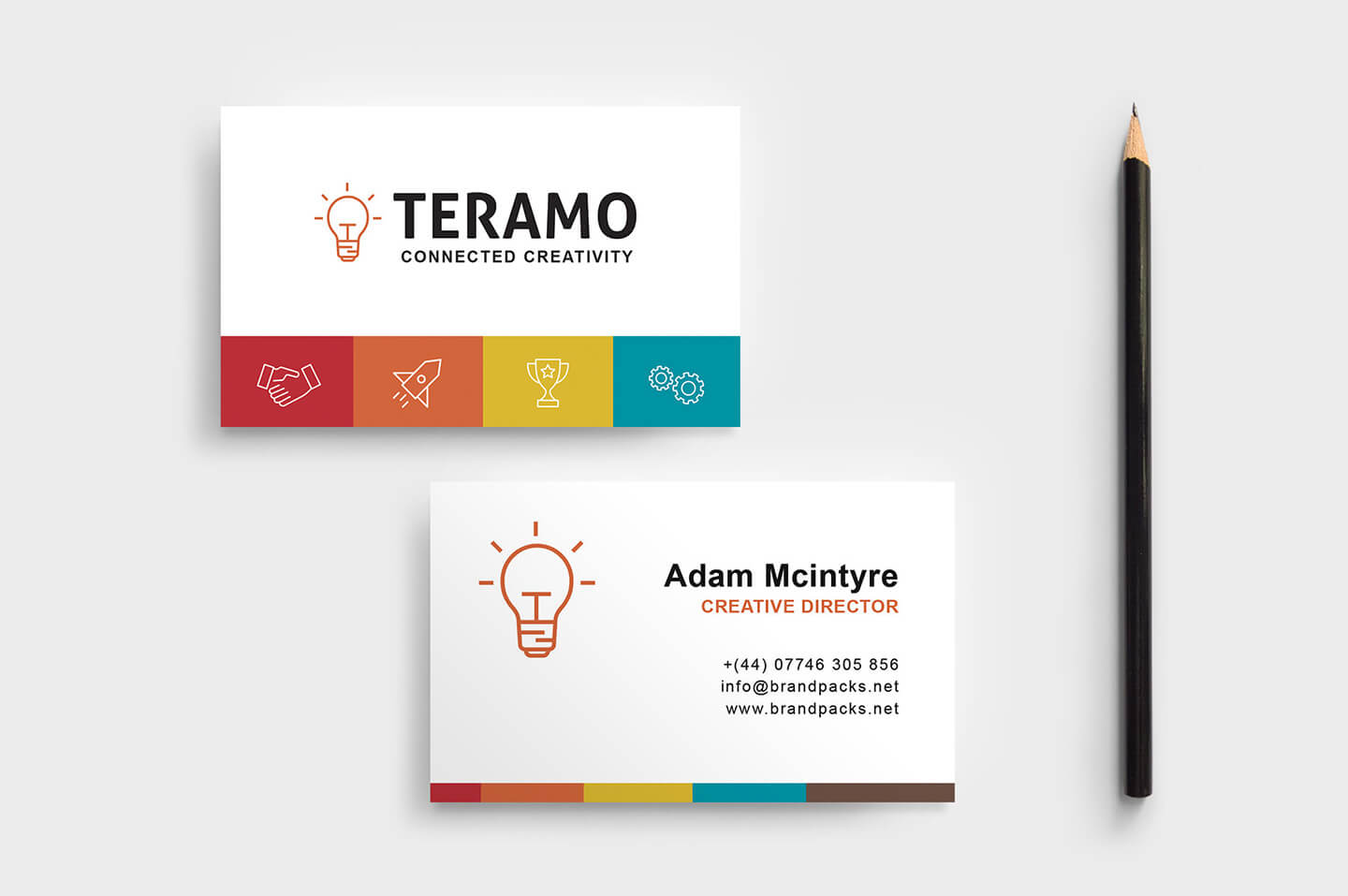 Free Business Card Template In Psd, Ai & Vector - Brandpacks with regard to Photoshop Name Card Template