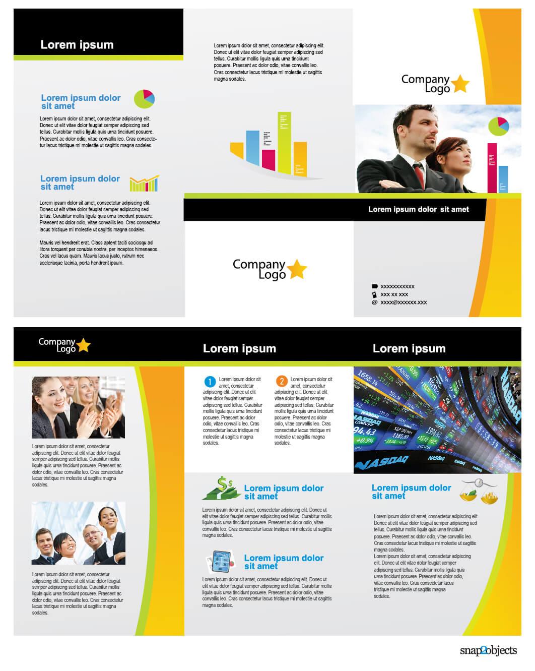 Free Business Vector Brochure Template In Illustrator – With Regard To Free Illustrator Brochure Templates Download