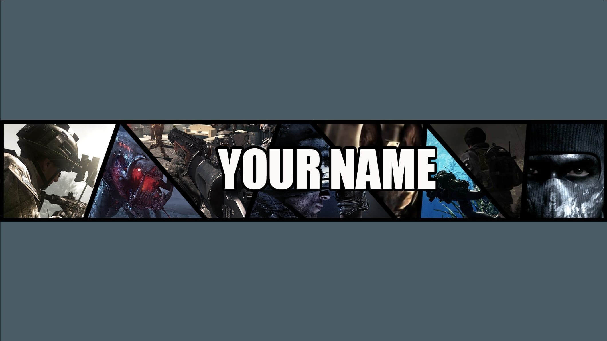 Free Call Of Duty: Ghosts Youtube Banner Template (By Me regarding Yt Banner Template