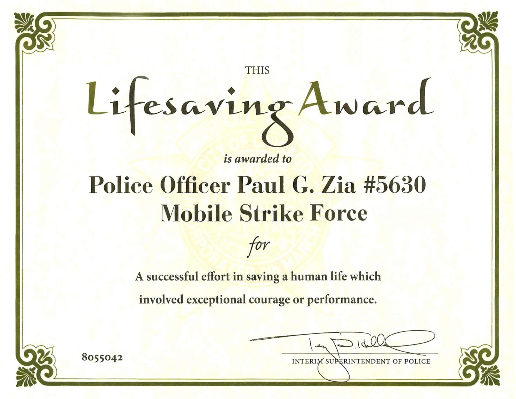 Free Certificate Of Performance Template 7 Elsik Blue Cetane Throughout Life Saving Award Certificate Template