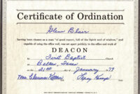 Free Certification: Free Ordination Certificate with Ordination Certificate Template