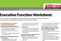 Free Checklist: Common Executive Function Challenges — And within Daily Report Card Template For Adhd