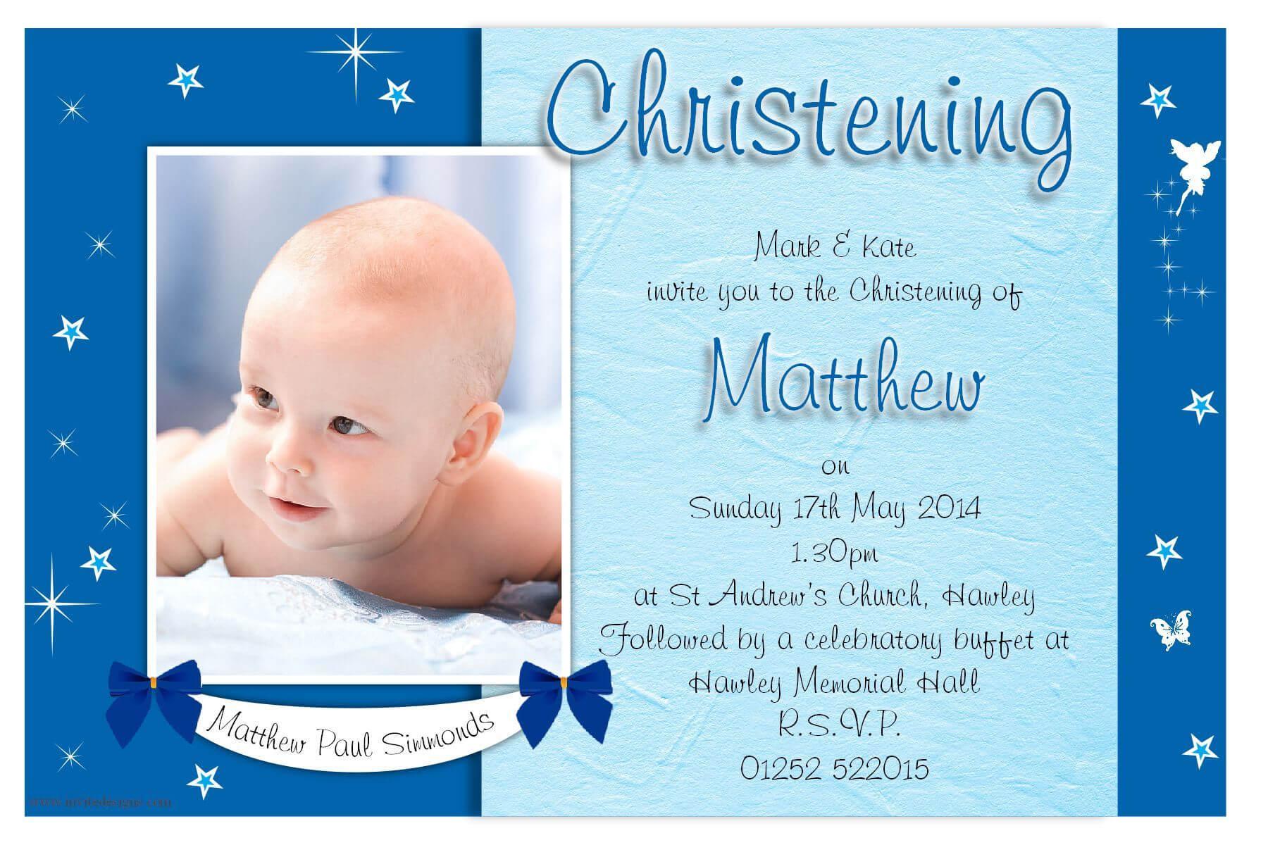 Free Christening Invitation Template Printable   Cakes In Throughout Free Christening Invitation Cards Templates