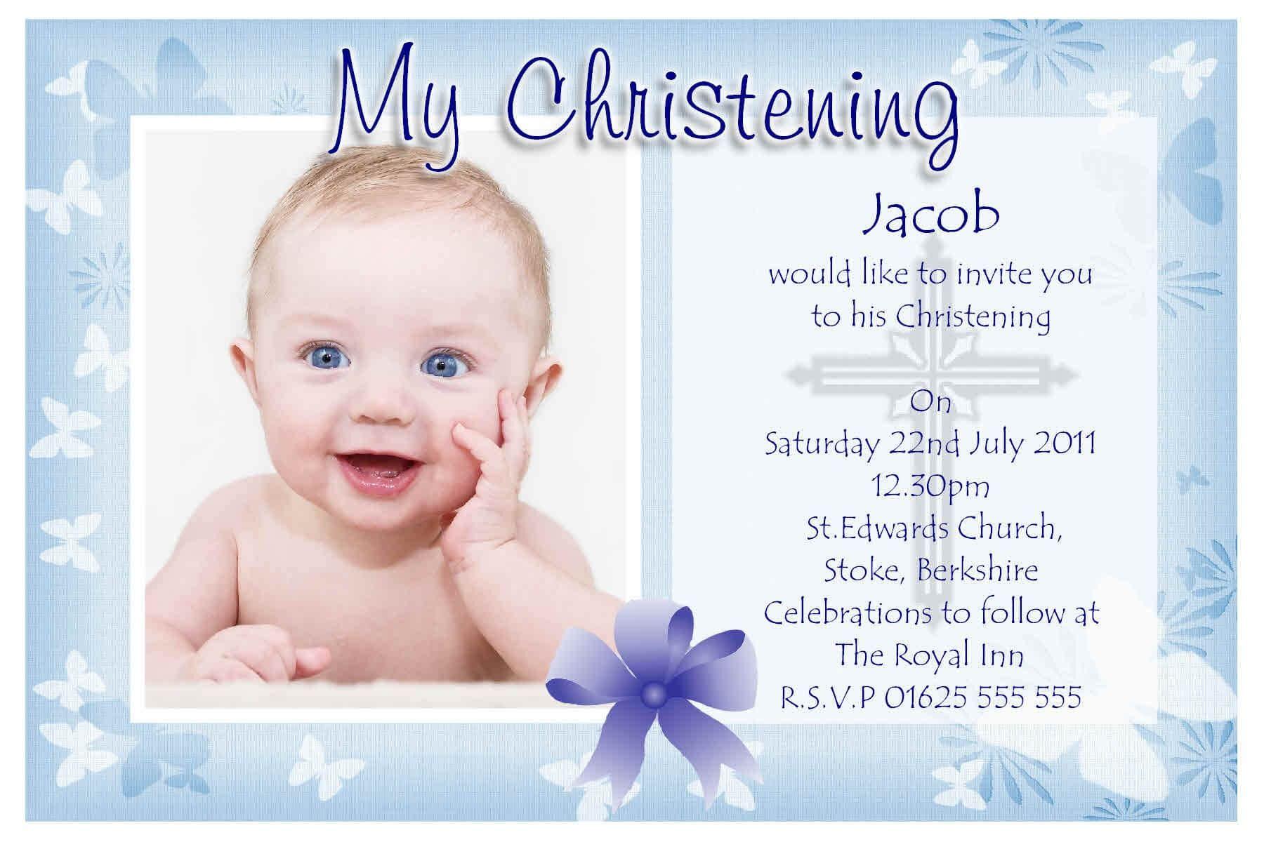 Free Christening Invitation Templates | Baptism Invitations Intended For Baptism Invitation Card Template