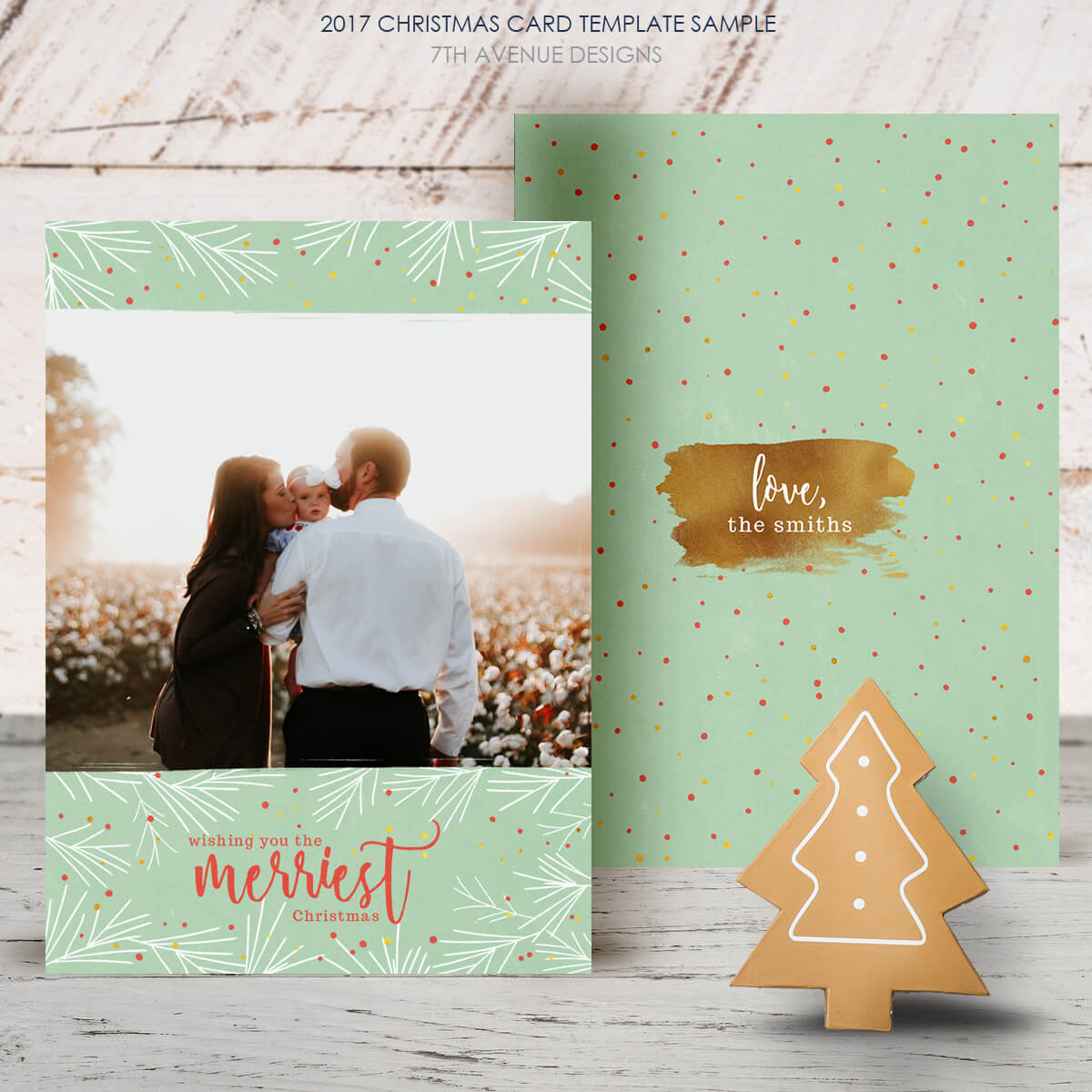 Free Christmas Card 2017 [Freecc2017] – It's Free Inside Free Christmas Card Templates For Photographers