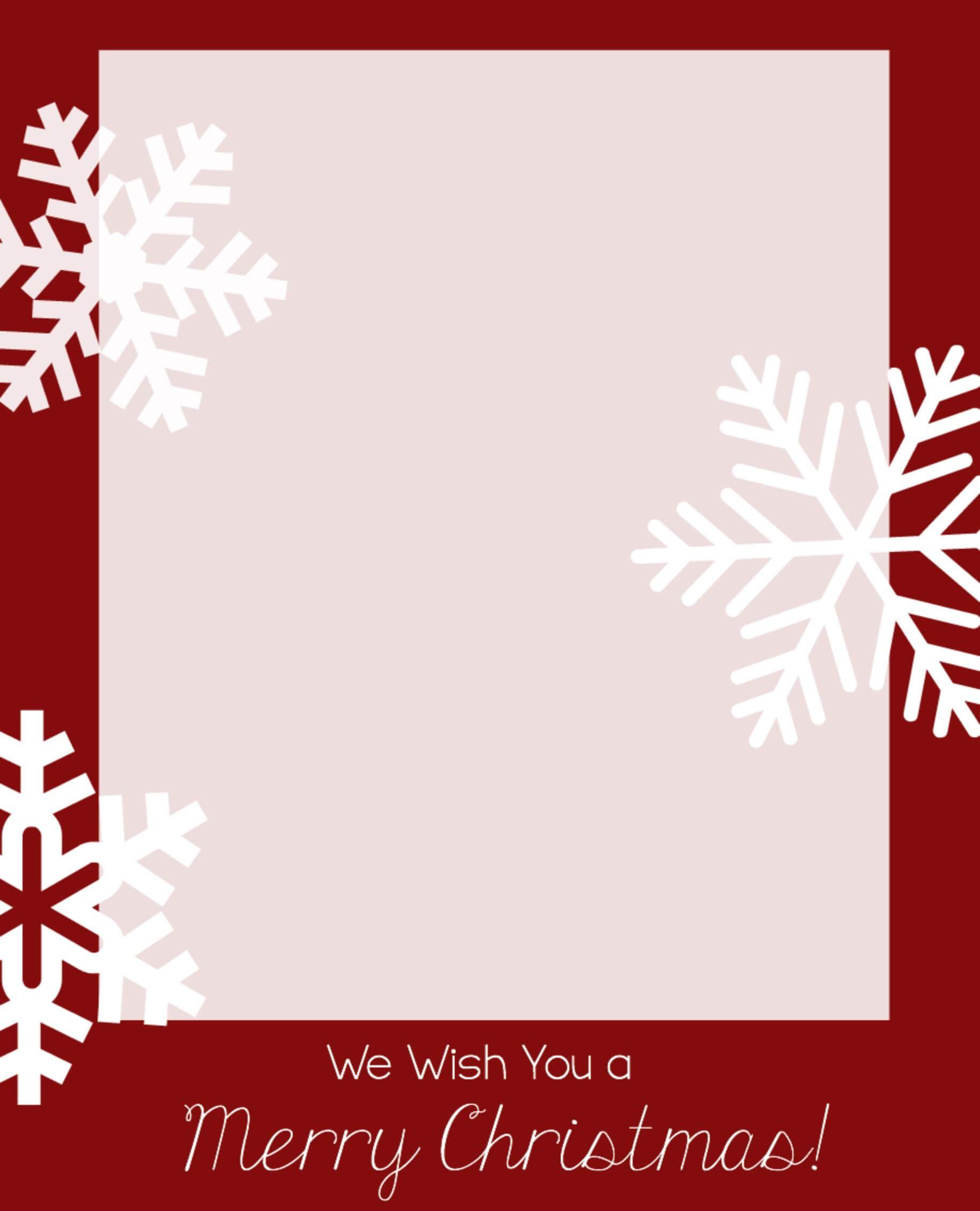 Free Christmas Card Templates | Christmas Card Template Inside Happy Holidays Card Template