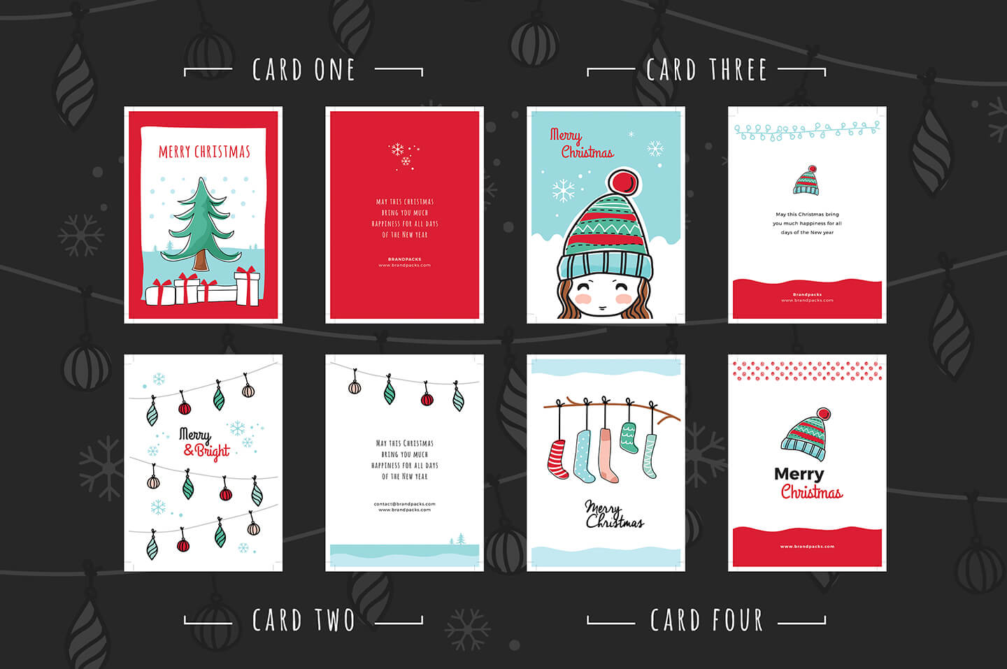 Free Christmas Card Templates For Photoshop & Illustrator With Regard To Adobe Illustrator Christmas Card Template