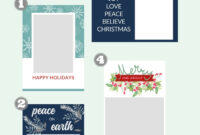 Free Christmas Card Templates – The Crazy Craft Lady with regard to Free Holiday Photo Card Templates
