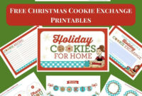 Free Christmas Cookie Exchange Printables – Flour On My Face for Cookie Exchange Recipe Card Template