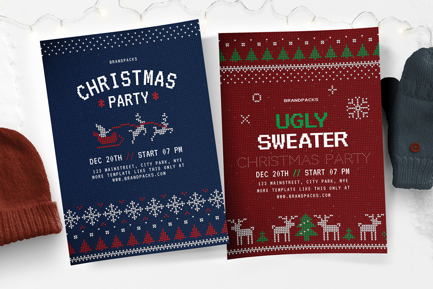 Free Christmas Flyer, Poster & Instagram Templates - Psd throughout Christmas Brochure Templates Free