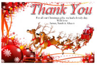Free Christmas Thank You Cards Templates — Anouk Invitations throughout Christmas Thank You Card Templates Free