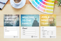 Free Church Connection Cards – Beautiful Psd Templates with regard to Church Visitor Card Template