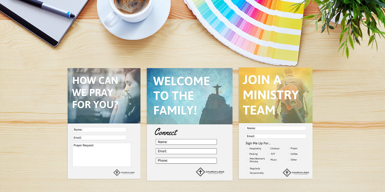 Free Church Connection Cards - Beautiful Psd Templates with regard to Church Visitor Card Template