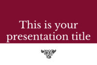 Free Classic And Elegant Powerpoint Template Or Google in Depression Powerpoint Template