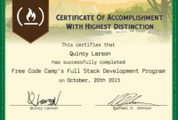 Free Code Camp Full Stack Development Certification Intended For Boot Camp Certificate Template