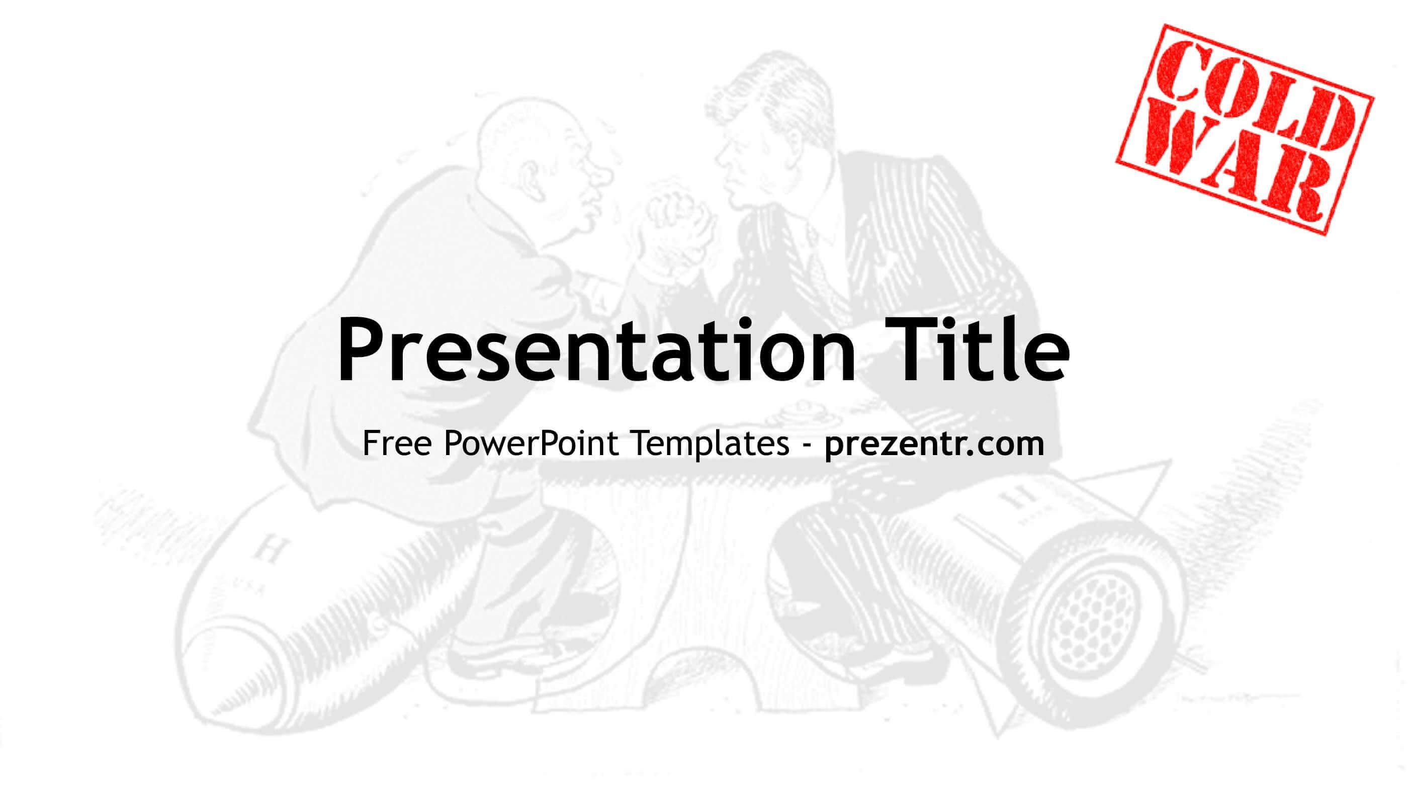 Free Cold War Powerpoint Template - Prezentr Ppt Templates Pertaining To Powerpoint Templates War