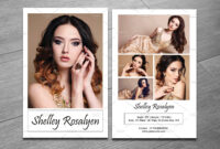 Free Comp Card Template Photoshop Online Model Brochure within Comp Card Template Download