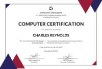 Free Computer Diploma Certificate | Certificate Templates throughout Indesign Certificate Template