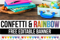 Free Confetti Banner For The Classroom - Confetti Classroom regarding Classroom Banner Template