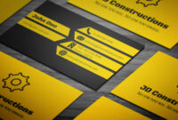 Free Construction Business Card Template On Student Show with regard to Construction Business Card Templates Download Free