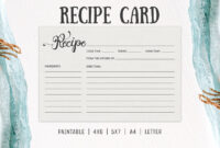 Free Cooking Recipe Card Template Rc2 – Creativetacos Throughout 4X6 Photo Card Template Free